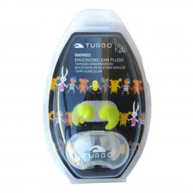 Tapones oidos natación Turbo silicona verde junior