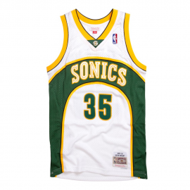 Camiseta baloncesto Mitchell&Ness Durant Seattle blanca homb