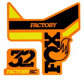 Adhesivo Fox 32 Sc f-s negro.amarillo, naranja 2018
