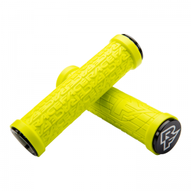 Puños  Race Face Grippler, 33mm Lock on, 132mm amarillo