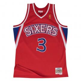Camiseta baloncesto Mitchell&Ness Iverson Sixers roja hombre