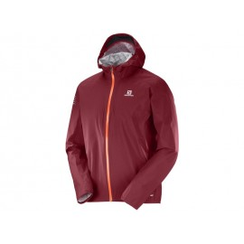 Chaqueta trail running Salomon Bonatti WP granate hombre