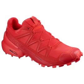 Zapatillas trail running Salomon SpeedCross 5 roja hombre
