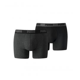Boxer Puma Basic 2pk gris oscuro hombre