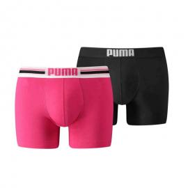 Boxer Puma Placed Logo 2pk rosa/negro hombre