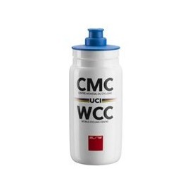 Bidon Elite Fly Mundial WCC UCI blanco 550 ml
