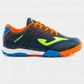 Zapatillas fútbol Joma Champion 903 TF azul/naranja niño