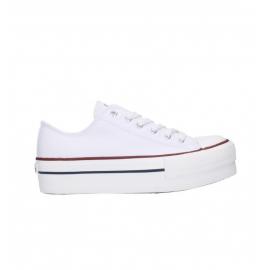 Zapatillas lona Victoria Plataforma 1061100 blanca mujer
