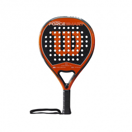 Pala pádel Wilson Carbon Force Smart negra/naranja