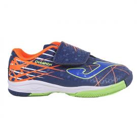 Zapatillas fútbol Joma Champion 903 IN azul/naranja niño
