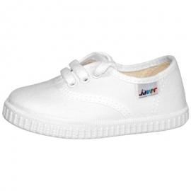 Zapatillas lona Javer 60.02 cordón blanco