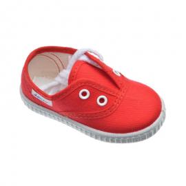 Zapatillas lona Javer 60.30 cordón rojo niño