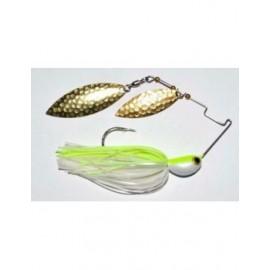 Spinnerbait Longasbait 4Wind 3/4 oz. c. White Chartreuse