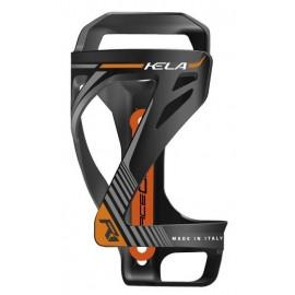Portabidon Raceone Kela salida lateral negro-naranja