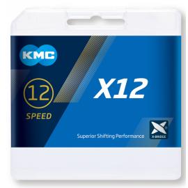 Cadena Kmc X12 12 velocidades 126 eslabone  Negro