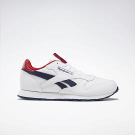Zapatillas Reebok Classic Leather blanco/azul/rojo junior
