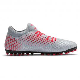 Zapatillas fútbol Puma Future 4.4 MG gris/rojo hombre