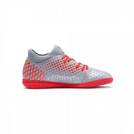 Zapatillas fútbol Puma Future 4.4 IT gris/rojo niño