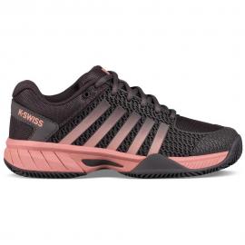Zapatillas pádel K-Swiss Express Light HB gris/rosa mujer