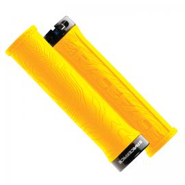 Puños Race Face Half Nelson Single Locks On amarillo