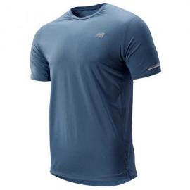 Camiseta running New Balance NB Ice 2.0 SS azul hombre