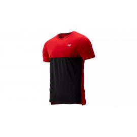 Camiseta running New Balance Accelerate SS roja/negro hombre