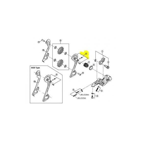 Portapoleas exterior cambio Shimano RD-M781 5Y098020