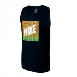 Camiseta Nike Palm Print Box negro hombre