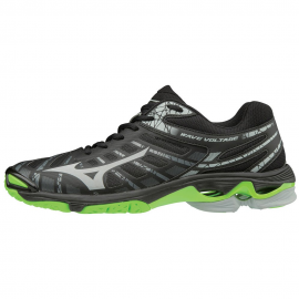Zapatillas voley Mizuno Wave Voltage negra/gris/verde hombre