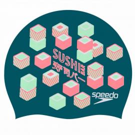 Gorro natación Speedo Slogan Print verde con sushi