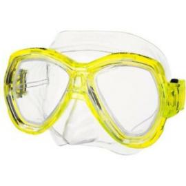 Máscara buceo Seac Ischia amarilla adulto