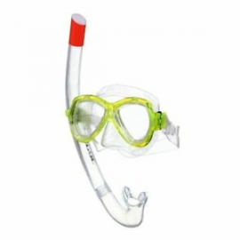 Set snorkel Seac Ischia amarillo junior