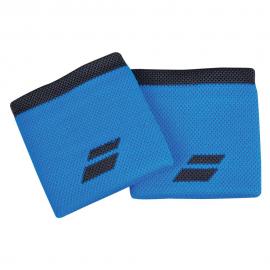 Muñequeras tenis Babolat logo azul/negro