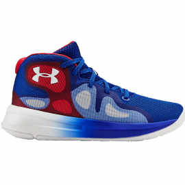Zapatillas baloncesto Under Armour Torch 2019 azul/rojo jr