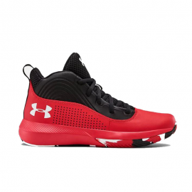 Zapatillas baloncesto Under Armour Lockdown 4 rojo/negro jr
