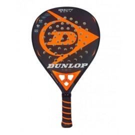 Pala de padel Dunlop Gravity Soft negro/naranja