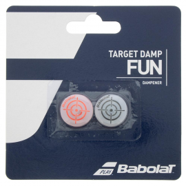 Antivribador Babolat Target Damp x2 negro/rojo fluor