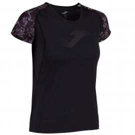 Camiseta running Joma Selene negro/antracita mujer