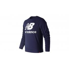 Sudadera New Balance Essentials Stacked Logo azul hombre
