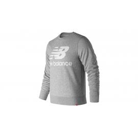 Sudadera New Balance Essentials Stacked Logo gris hombre