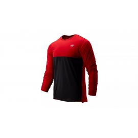 Camiseta running New Balance Accelerate LS rojo/negro hombre