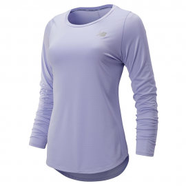 Camiseta running New Balance Accelerate LS V2 lila mujer