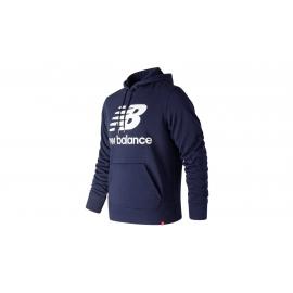 Sudadera New Balance Essentials Stacked Logo Po azul hombre