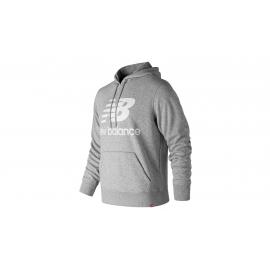 Sudadera New Balance Essentials Stacked Logo Po gris hombre