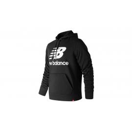 Sudadera New Balance Essentials Stacked Logo Po negro hombre