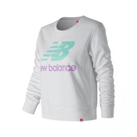 Sudadera New Balance Essentials blanco/turquesa mujer
