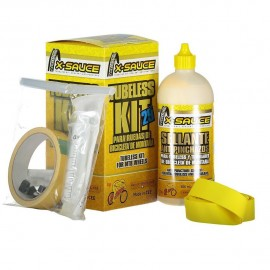 "Kit X-Sauce Tubeless 29"" Valvula Fina 2 ruedas llantas 25mm"