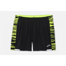 """Pantalón running Brooks Nightlife 5"""" negro/amarillo hombre"""
