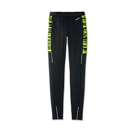 Malla running Brooks Nightlife Tight negro/amarillo hombre