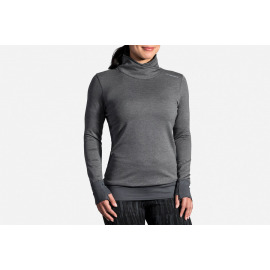 Camiseta running Brooks Notch Thermal gris mujer